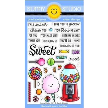 Sunny Studio CANDY SHOPPE Clear Stamps SSCL 297