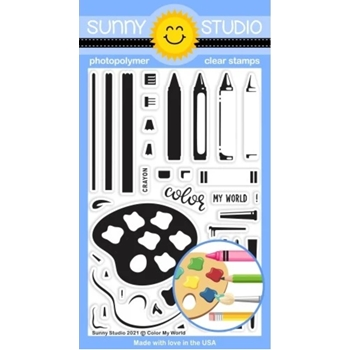 Sunny Studio COLOR MY WORLD Clear Stamps SSCL 298