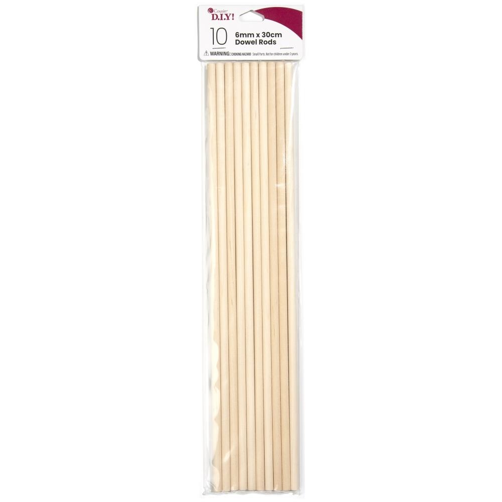 Cousin 6MM WOODEN DOWEL ROD 10 Pack 40000530 zoom image