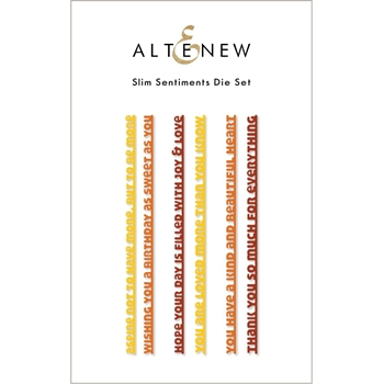 Altenew SLIM SENTIMENTS Dies ALT6066