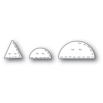 Poppy Stamps WHITTLE TACO AND NACHO Craft Dies 2448