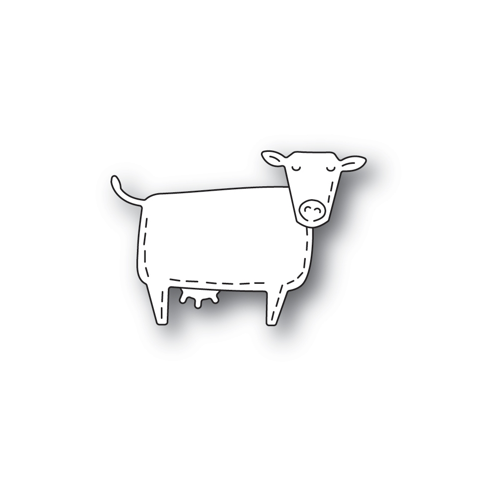 Poppy Stamps WHITTLE COW Craft Dies 2449 zoom image