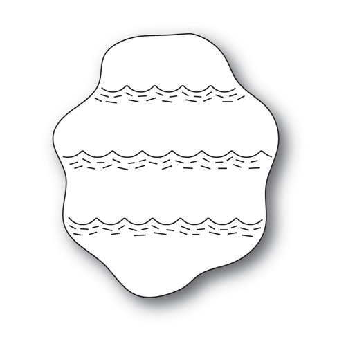 Poppy Stamps WHITTLE WAVE BACKGROUND Craft Dies 2420 Preview Image