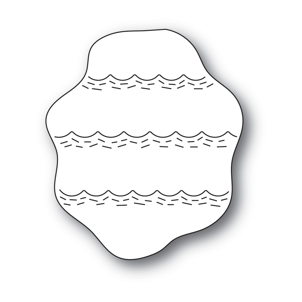 Poppy Stamps WHITTLE WAVE BACKGROUND Craft Dies 2420 zoom image