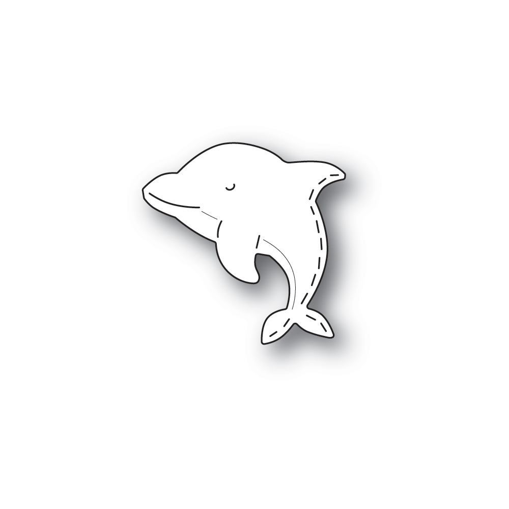 Poppy Stamps WHITTLE DOLPHIN Craft Dies 2440 zoom image