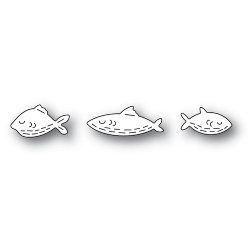 Poppy Stamps WHITTLE FISH TRIO Craft Dies 2450 Preview Image