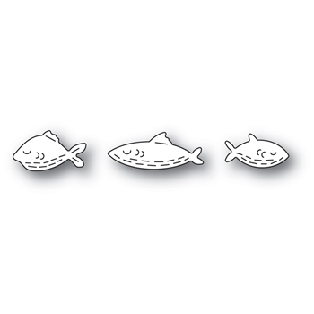 Poppy Stamps WHITTLE FISH TRIO Craft Dies 2450