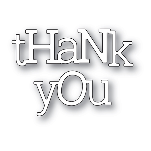 Poppy Stamps PLAYFUL THANK YOU Craft Dies 2405 Preview Image