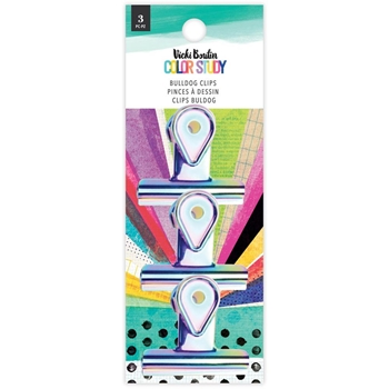 American Crafts Vicki Boutin COLOR STUDY Bulldog Clips 3 Pack 34005699