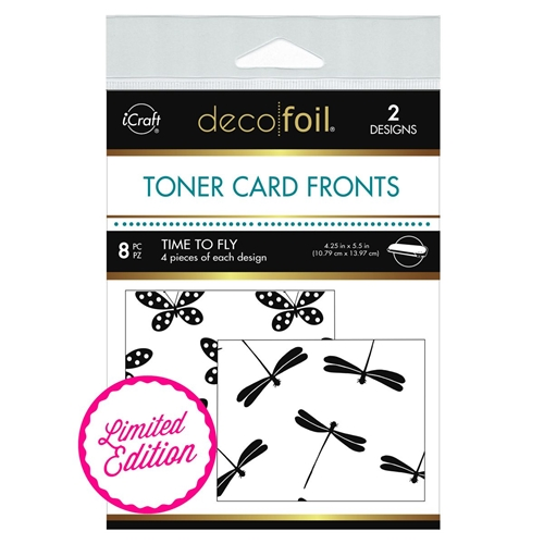 Therm O Web Limited Edition Deco Foil TIME TO FLY White Toner Card Fronts 5618 Preview Image