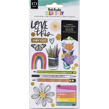 American Crafts Vicki Boutin COLOR STUDY Sticker Book 34005690