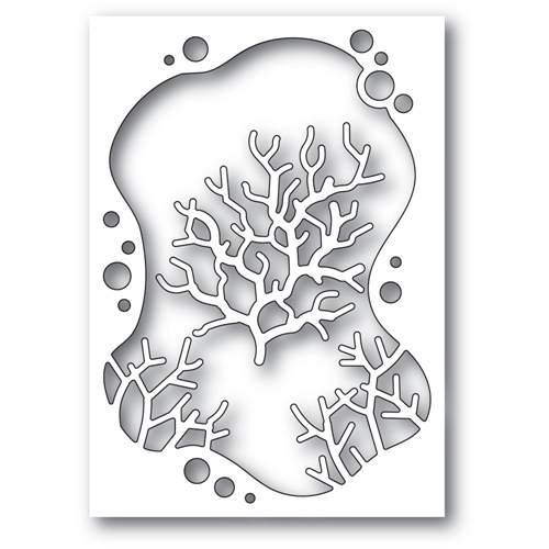 Memory Box BUBBLE CORAL COLLAGE Craft Dies 94562 Preview Image