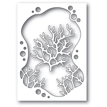 Memory Box BUBBLE CORAL COLLAGE Craft Dies 94562