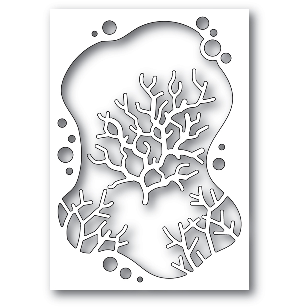 Memory Box BUBBLE CORAL COLLAGE Craft Dies 94562 zoom image