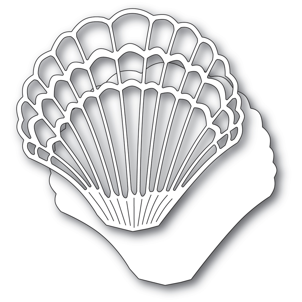 Memory Box GRAND SCALLOP SHELL Craft Dies 94568 zoom image