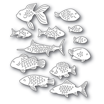 Memory Box SCHOOL OF FISH Craft Dies 94570