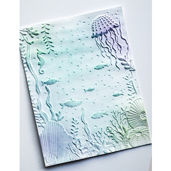 Memory Box UNDERWATER 3D Embossing Folder Eef1012