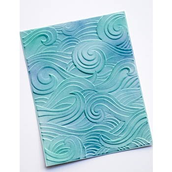 Memory Box WAVES 3D Embossing Folder ef1013