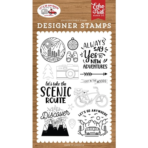 Echo Park NEW ADVENTURE Clear Stamps lga242040 Preview Image