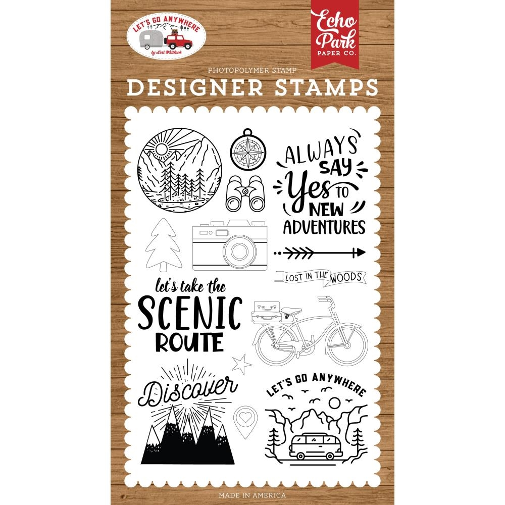 Echo Park NEW ADVENTURE Clear Stamps lga242040 zoom image