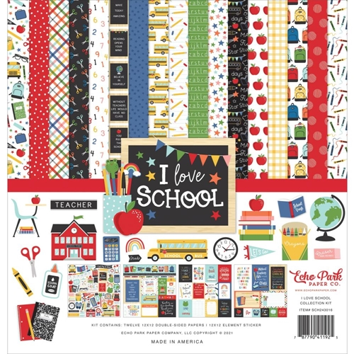 Echo Park I LOVE SCHOOL 12 x 12 Collection Kit sch243016 Preview Image