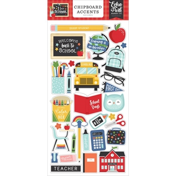 Echo Park I LOVE SCHOOL Chipboard Accents sch243021