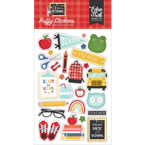 Echo Park I LOVE SCHOOL Puffy Stickers sch243066 Preview Image