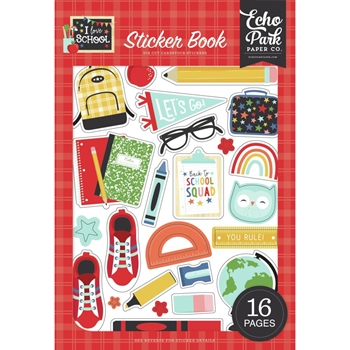 Echo Park I LOVE SCHOOL Sticker Book sch243029