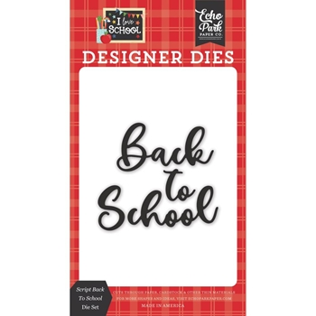 Echo Park SCRIPT BACK TO SCHOOL Die Set sch243041