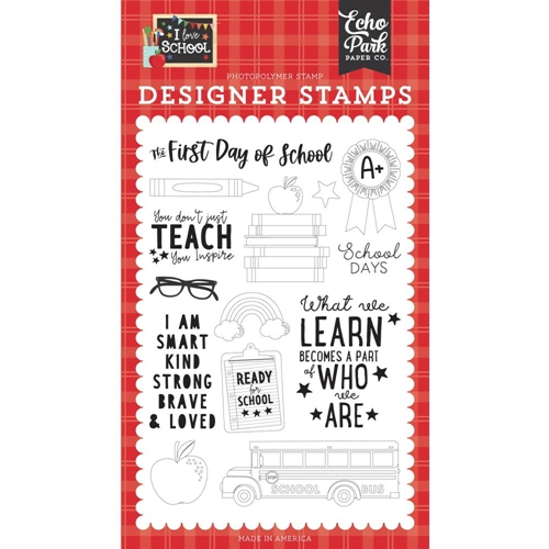 Echo Park FIRST DAY OF SCHOOL Clear Stamps sch243043 Preview Image