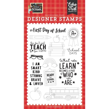 Echo Park FIRST DAY OF SCHOOL Clear Stamps sch243043