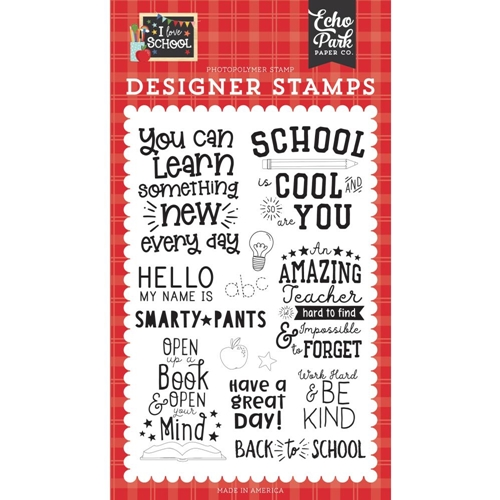 Echo Park SCHOOL IS COOL Clear Stamps sch243044 Preview Image