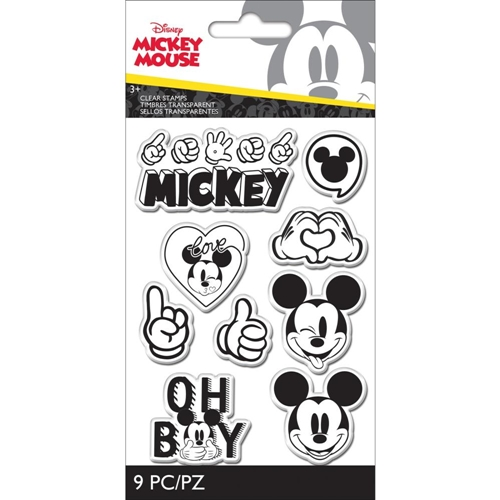 EK Success DISNEY MICKEY MOUSE 9 Piece Clear Stamp Set 53000053 Preview Image
