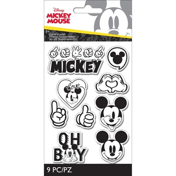 EK Success DISNEY MICKEY MOUSE 9 Piece Clear Stamp Set 53000053