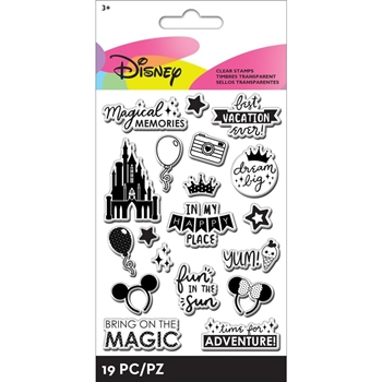 EK Success DISNEY WORDS 19 Piece Clear Stamp Set 53000054