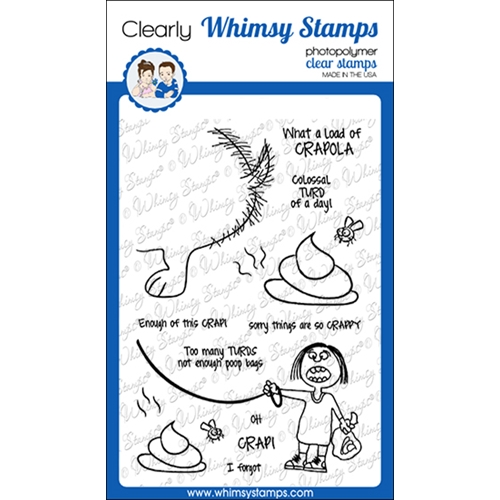 Whimsy Stamps CRAPOLA Clear Stamps CWSD270a Preview Image