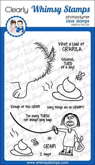 Whimsy Stamps CRAPOLA Clear Stamps CWSD270a zoom image