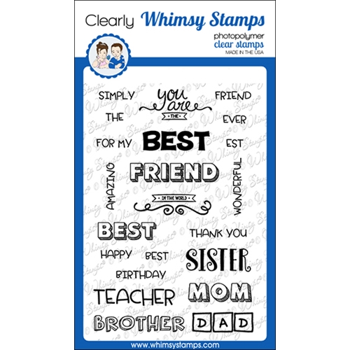 Whimsy Stamps BEST BEST Clear Stamps CWSD258a Preview Image