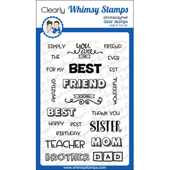 Whimsy Stamps BEST BEST Clear Stamps CWSD258a