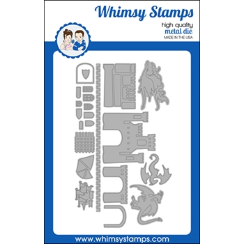 Whimsy Stamps BUILD A CASTLE Dies WSD538