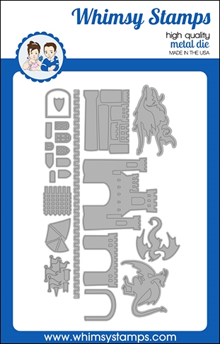 Whimsy Stamps BUILD A CASTLE Dies WSD538 zoom image