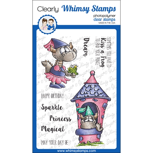 Whimsy Stamps PRINCESS DRAGONS Clear Stamps DP1064 Preview Image
