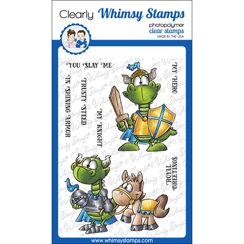Whimsy Stamps KNIGHT DRAGON Clear Stamps DP1063 Preview Image