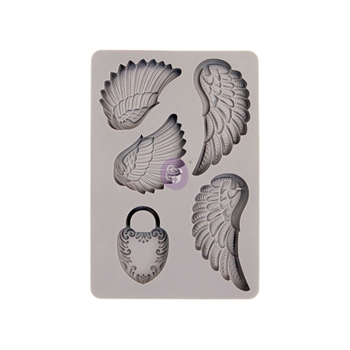 Prima Marketing WINGS AND LOCKET ReDesign Decor Mould 599409*