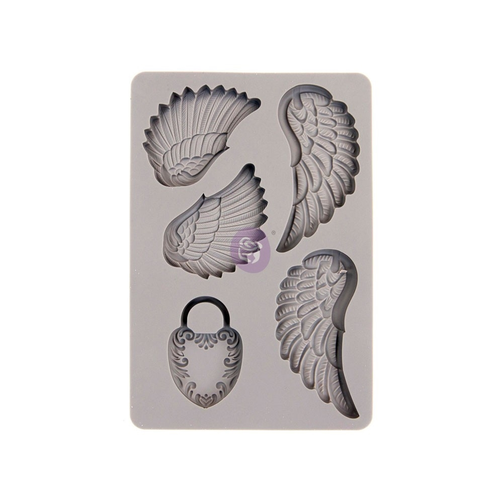 Prima Marketing WINGS AND LOCKET ReDesign Decor Mould 599409 zoom image