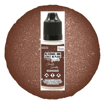 Couture Creations CHOCOLATE SPRINKLES Pearlescent Alcohol Ink Pad Reinker co728209