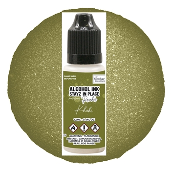Couture Creations KHAKI Pearlescent Alcohol Ink Pad Reinker co728211