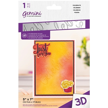 Gemini CELEBRATE 3D Embossing Folder gemef3dcele
