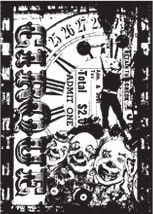 Tim Holtz Cling Rubber ATC Stamp CIRCUS FREAK Stampers Anonymous COM034* zoom image