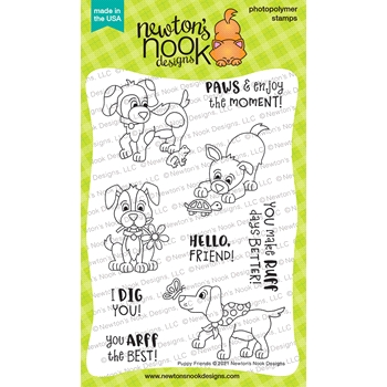 Newton's Nook Designs PUPPY FRIENDS Clear Stamps NN2104S02